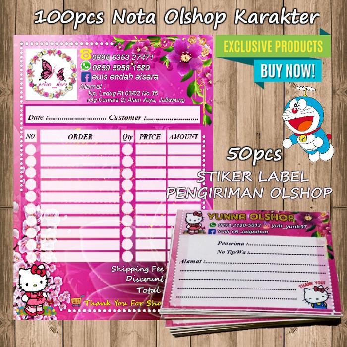 Jual Paket Nota Olshop Karakter Stiker Label Pengiriman Kab Bekasi Dai Onlineshop Tokopedia