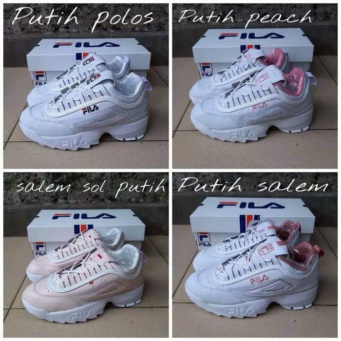 Sepatu Sneakers Wanita Sepatu Kets Cewek Filla Disrubtor Olahraga Baru 90d2e87dbe