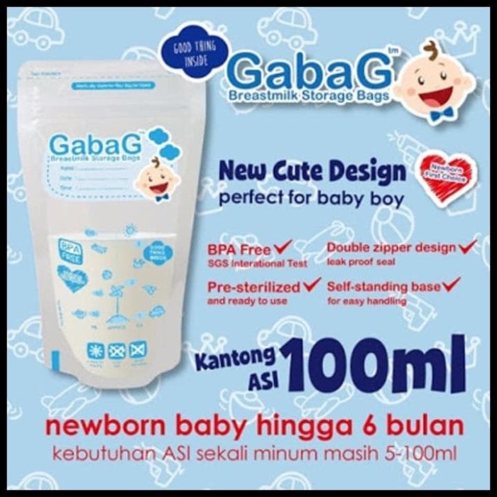 TERBAIK Gabag Kantong Asi 100ml Breastmilk Storage 100 ml isi 30 pcs