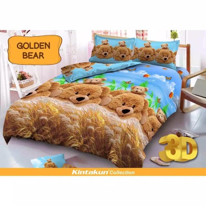 kintakun deluxe-bedcover king set golden bear