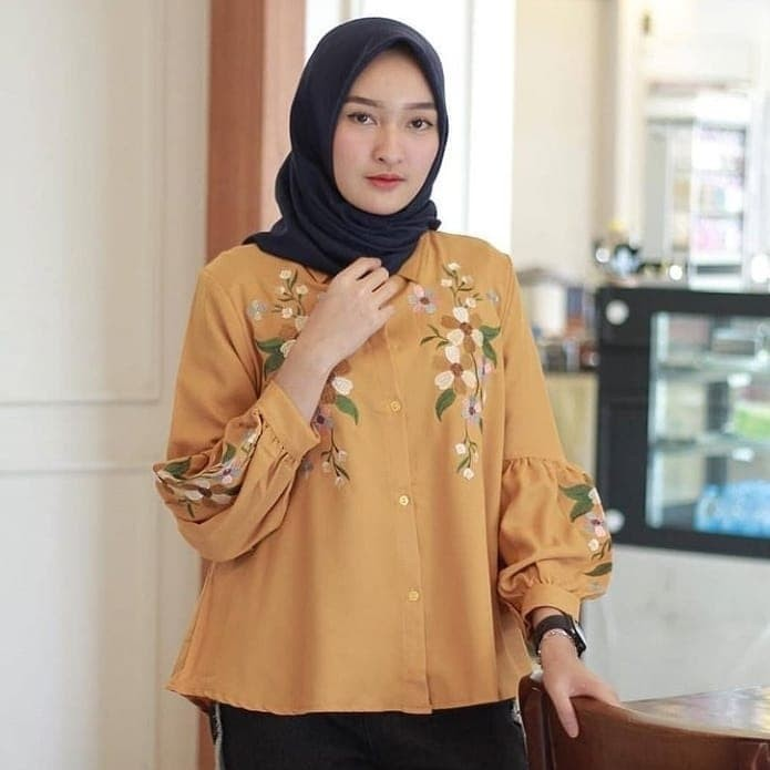 jasmin top blouse atasan