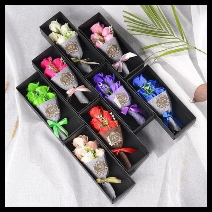 HOT SALE Produk Baru Buket Bunga Mawar Biru Sabun Gift Kado Valentine