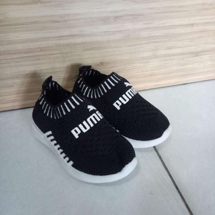 Jual Sepatu Anak Puma Import Rajut Hitam Kota Malang Gudang