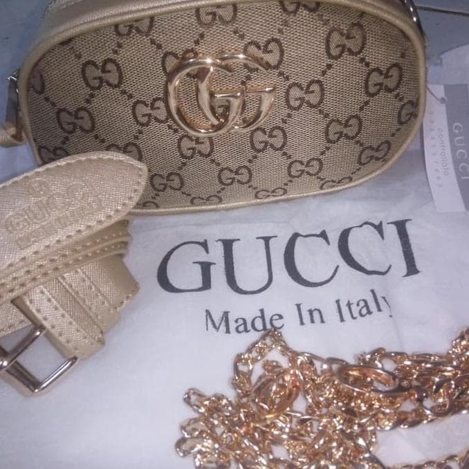 Tas Wanita Tas Pinggang Waist Bag Gucci Tas Nagita Emas - Wiring ... 7926b44eaf