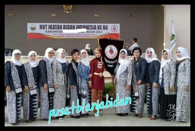 Jual Super Hemat Kain Batik Seragam Ibi Lapangan Free Pin Ibi Dki