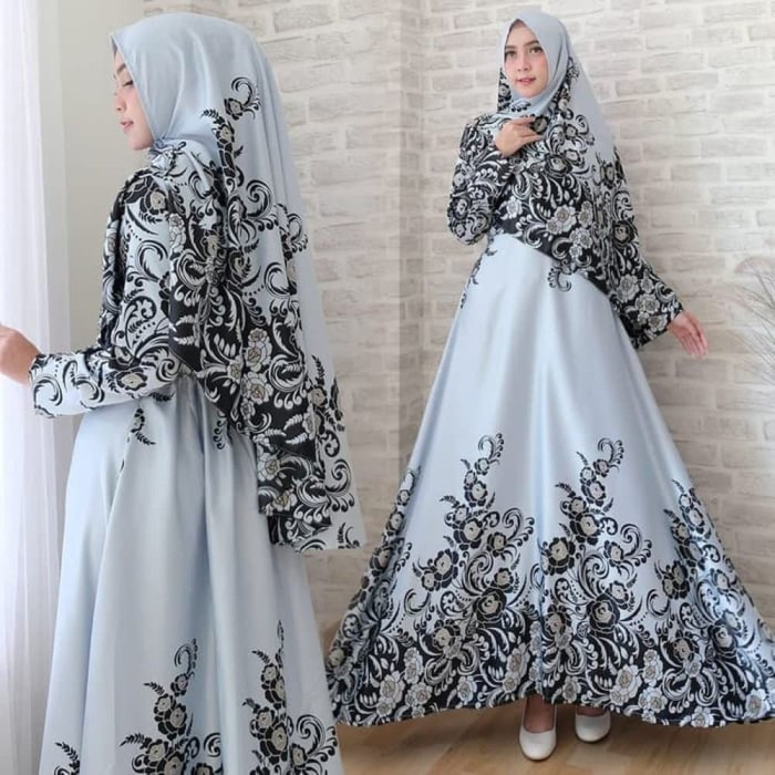 Jual Baju Atasan Gamis Wanita Muslim Shofiya Dress Pesta Hijab