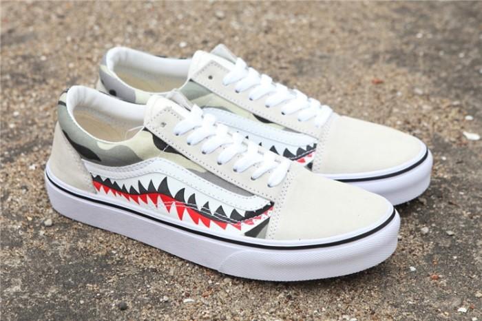 Jual Sepatu Vans Wanita Original Vans X Bape 17ss Shark Mouths Men