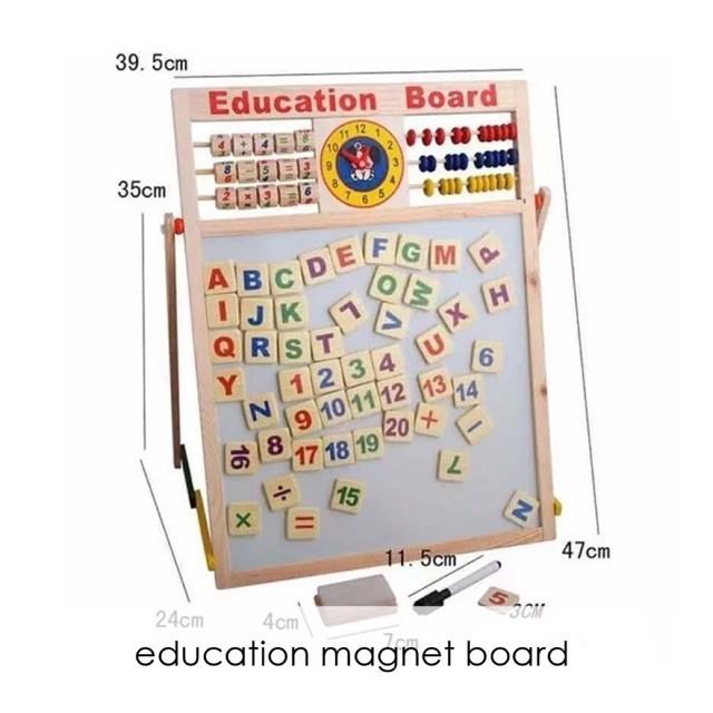 Edufuntoys EDUCATION MAGNET BOARD papan tulis magnet 2in1