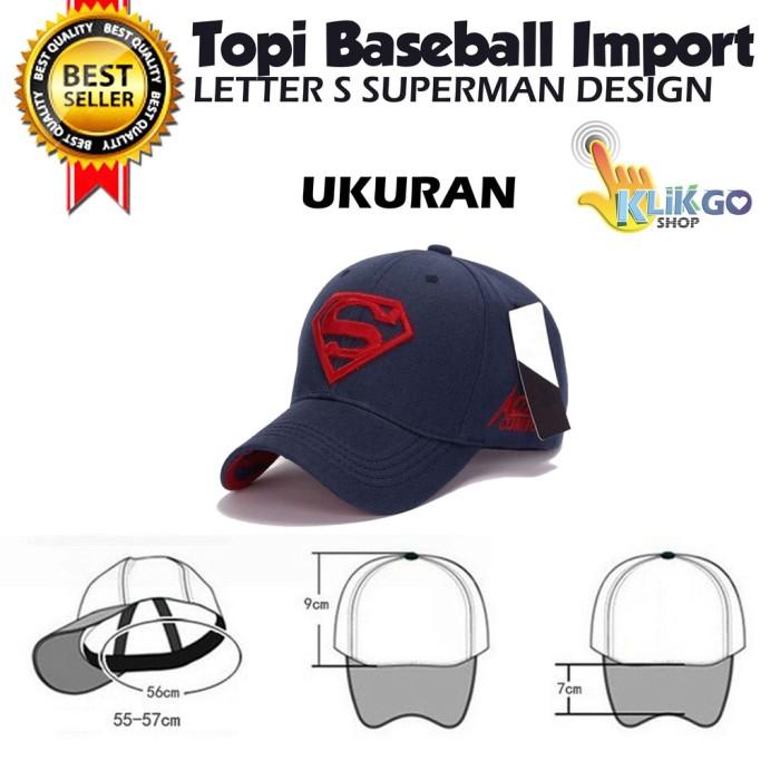 TOPI BASEBALL SUPERMAN DESIGN IMPORT PREMIUM SNAPBACK TRUCKER DC HERO eea6623b6b