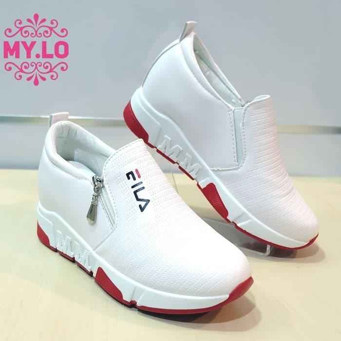 Jual sepatu fila wedges casual slipon kets putih wanita mylo import ... cb1c91086b