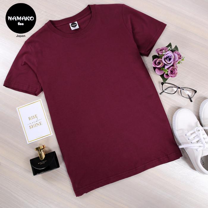 Jual Namako Tee Warna Maroon Kaos Polos Tshirt Baju Murah ...