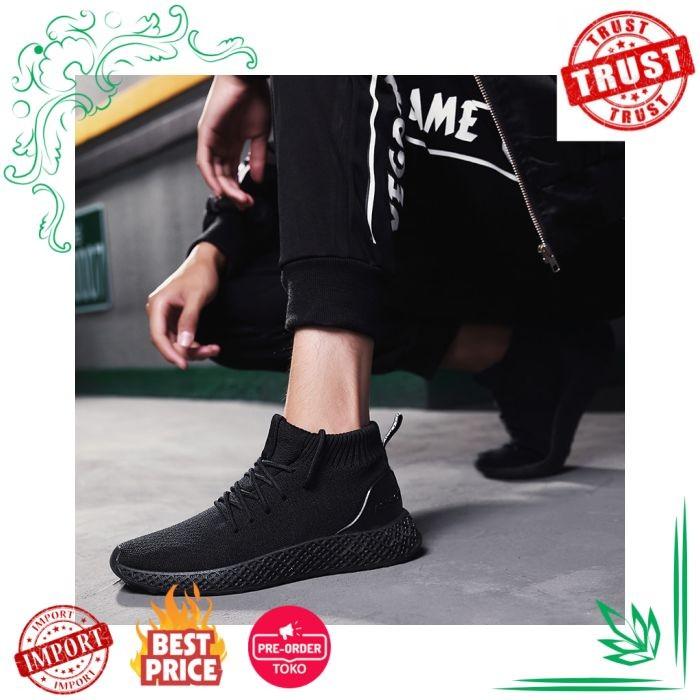 Sepatu Pria IMPOR Klywoo Kasual Bernapas Musim Gugur Mesh Tinggi Atas 1e6008e3a1