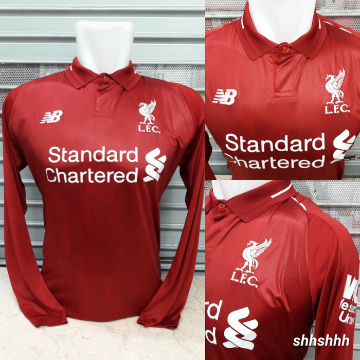 6abdacbdf Jual Jersey Liverpool Home Long Sleeve LS 18 19 Grade Ori - 2-Shop ...