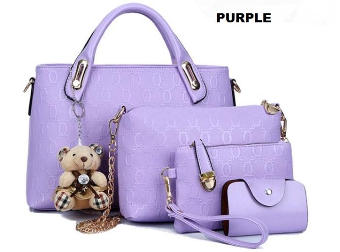 Tas Wanita 1724 Purple Handbag Tas Import Tas Batam Murah