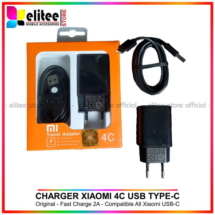 Charger Xiaomi 4C Fast Charging 2A Original USB Tipe C Mi A2 Mi4C Mi5