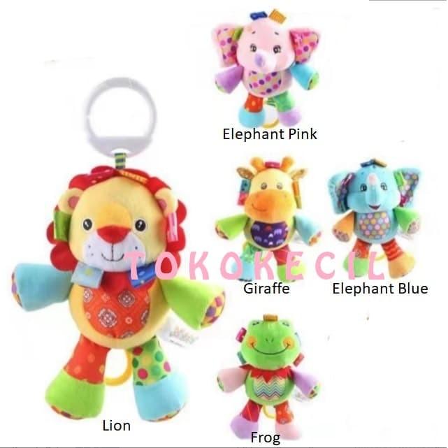 Jolly Baby Boneka Musik Tarik Musical Doll Mainan bayi - Elephant Pink