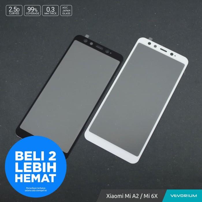 Xiaomi Mi A2 MiA2 Mi 6X Mi6X Tempered Glass Color 2.5D Full Cover - Putih