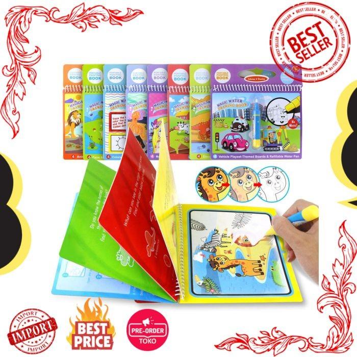 Jual Mainan 8 Jenis Sihir Air Menggambar Buku Menulis Doodle Pen Buku -  Kab  Tabalong - ToQku | Tokopedia
