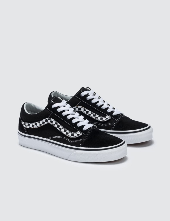 Jual Vans Old Skool Side Stripe Velcro Checekerboard Black White Kab. Bekasi Telecom shop | Tokopedia