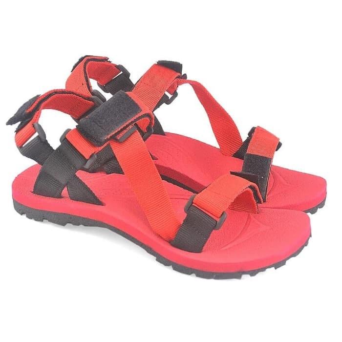 Sandal / Sendal Gunung Pria Merah Java Seven MDJ 003 murah original