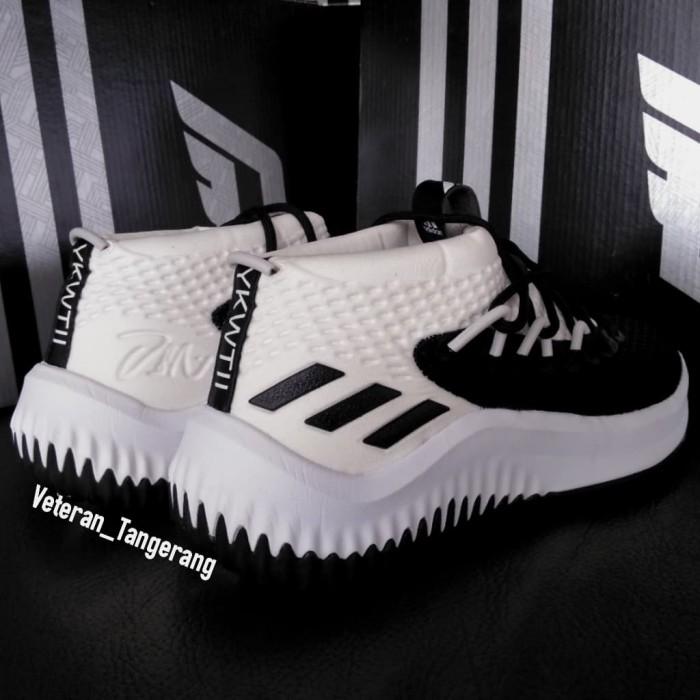 e027e163a6c2 Jual Adidas Dame 4 IV Damian Lillard Black White Vietnam - Kab ...