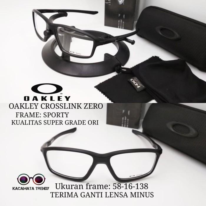 kacamata pria frame oakley croslink zero size 58-16-138 kualitas super -  Foto 7b7303b657