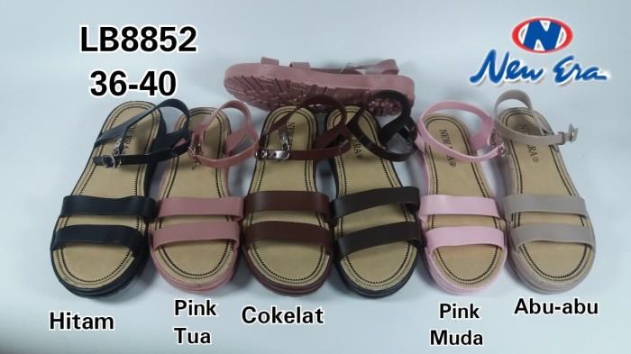 Jual Lb8852 Sepatu Sandal New Era Tali 2 Jelly Doff Kota