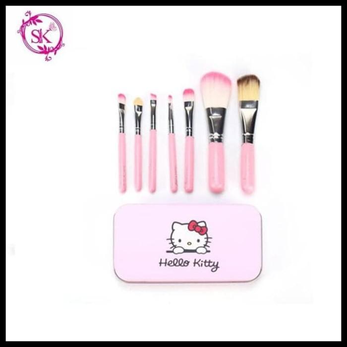 PROMO KITTY BRUSH KALENG 7 in 1 / kuas hello kitty set / make up brush