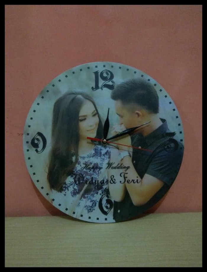 HOT SALE jam Dinding Vintage Custom (Foto by Request) Kado Pernikahan abf65b61e3