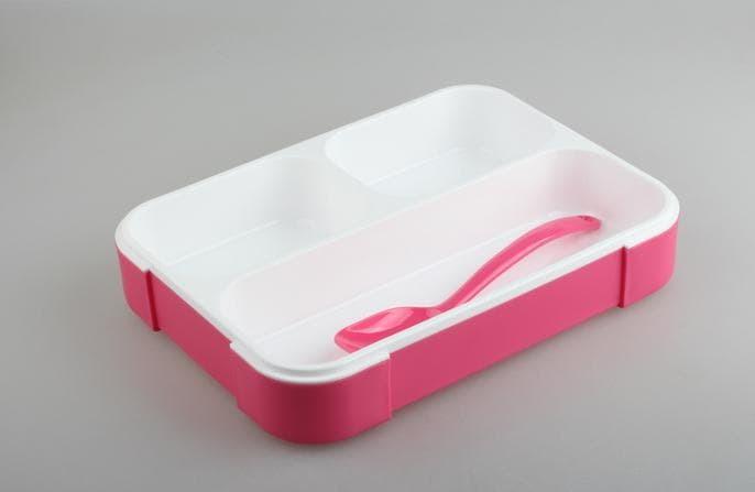 Best Seller 579 New Lunch Box Kotak Makan Yooyee 3Sekat Ko Alat Rumah