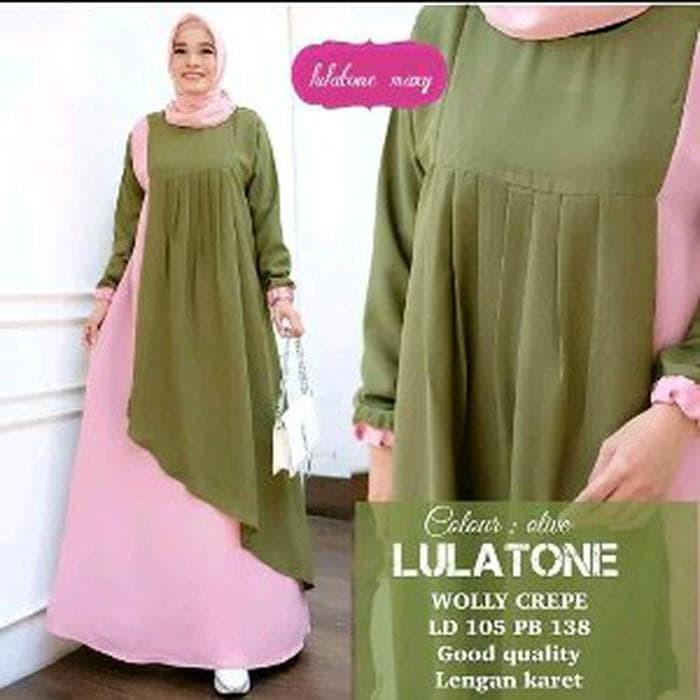 Jual Dijual Baju Gamis Muslim Wanita Lulatone New Maxy Dress Cantik Murah Duren Sawit Bestari 1 Tokopedia