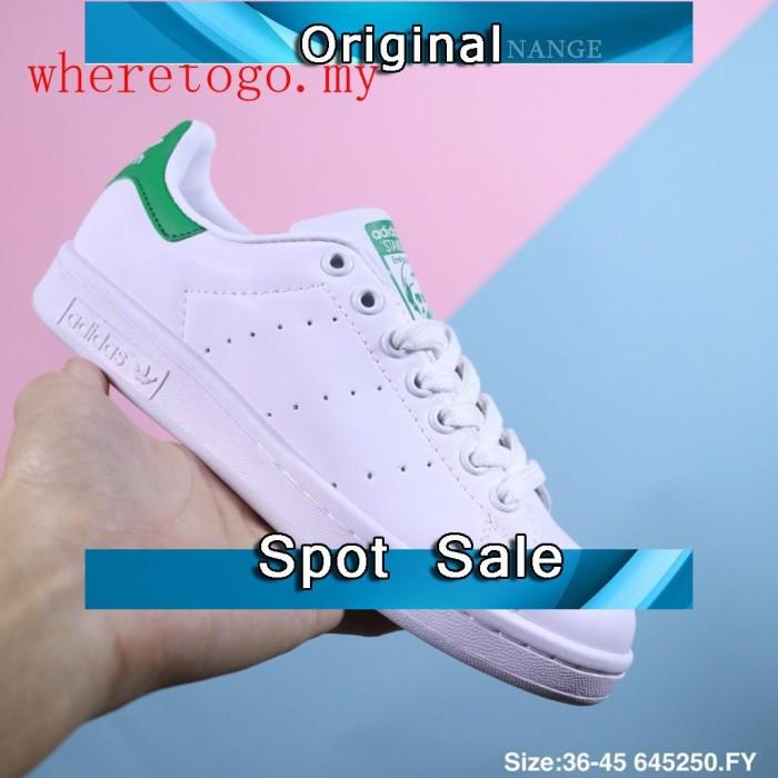 reputable site de95e 3eb4f Sepatu Sneakers Casual Pria Model Adidas Stan Smith Warna Putih 100 a