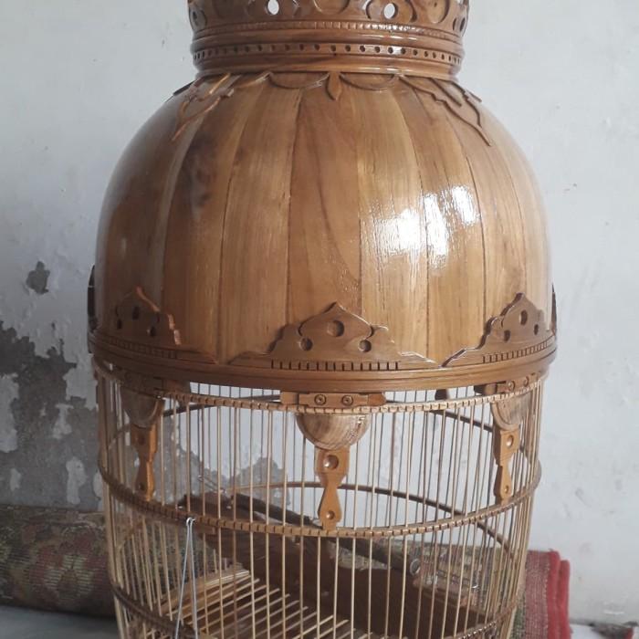 harga Sangkar Burung Perkutut Full Kayu Jati Tokopedia.com