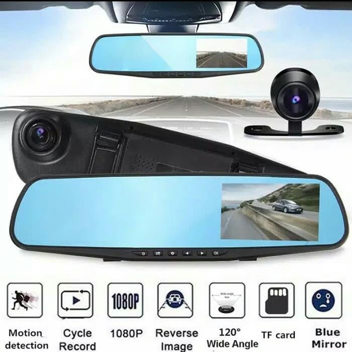 Kamera Spion Kaca DVR Dual Kamera 1080 4.3inchi Display Mobil + HDR