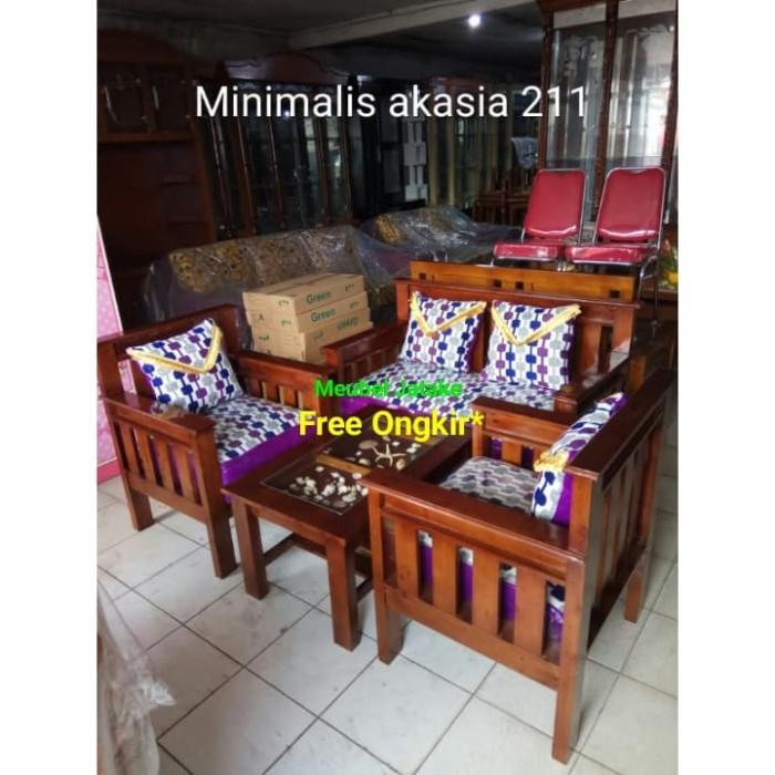 Jual Murah Kursi Tamu Minimalis Akasia Seat 211 Meja Kerang Sofa