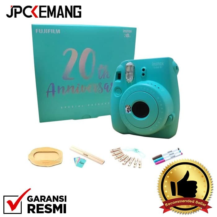 Foto Produk Fujifilm Instax Mini 9 anniversary Aqua Green Special Package dari JPCKemang