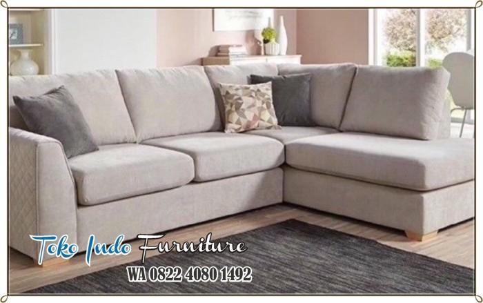 Jual Set Kursi Sofa Minimalis Modern Sudut Harga Murah Putih Kab