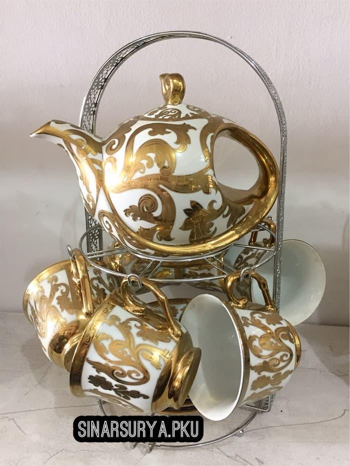 Foto Produk Tea Set Porcelain Lionex / Cangkir Set Lionex dengan Teko dari TOKO ERWIN TANJUNG