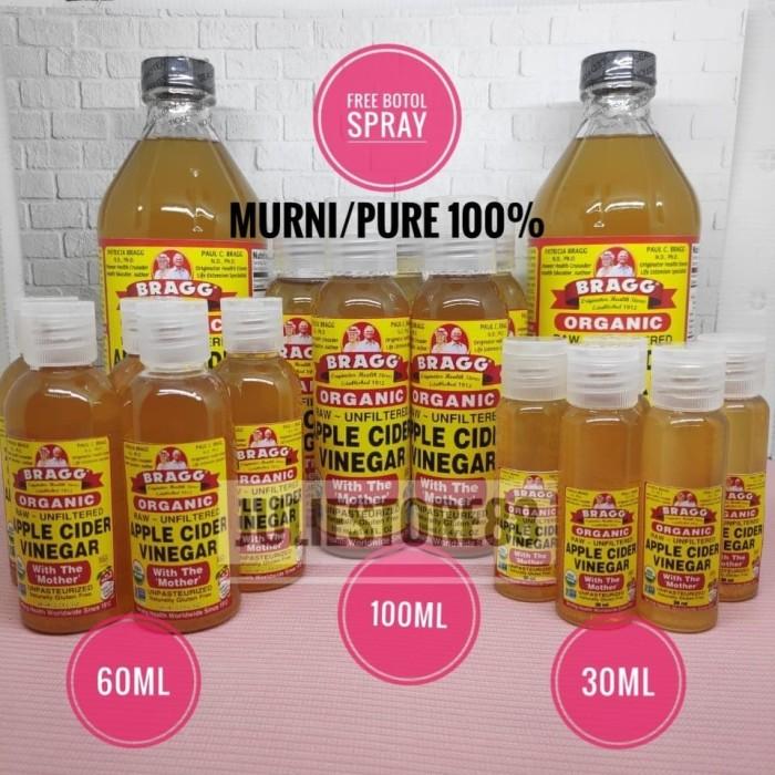 FREE BOTOL - Bragg Apple Cider Vinegar / Cuka Apel (Pure) - 60ml