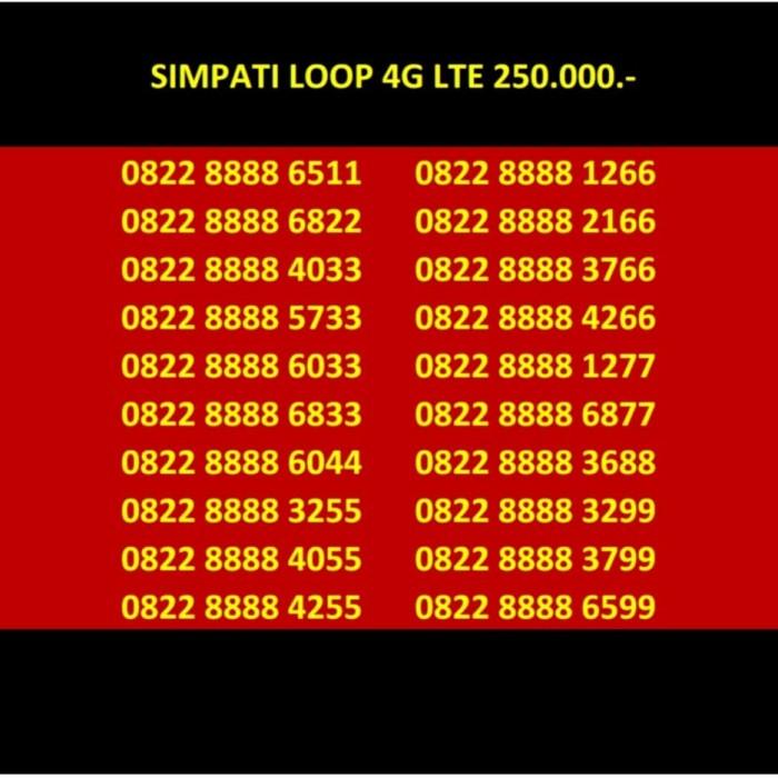 Nomor Cantik simPATI Loop 250