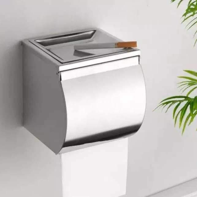 harga Tempat tissue gulung stainless tisue rol asbak tisu toilet kamar mandi Tokopedia.com