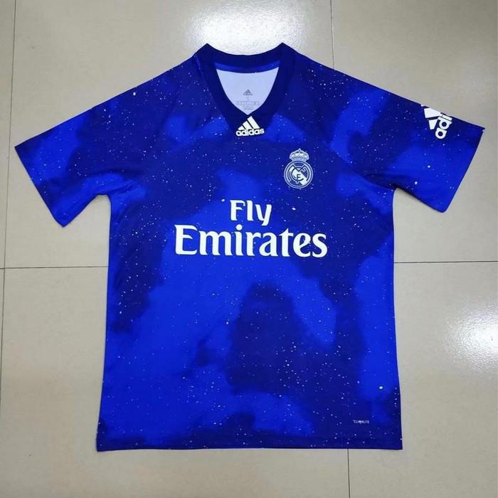 90cbbe69303 Jersey Kaos Baju Bola Real Madrid EA Sports Biru 2019-2020 Grade Ori