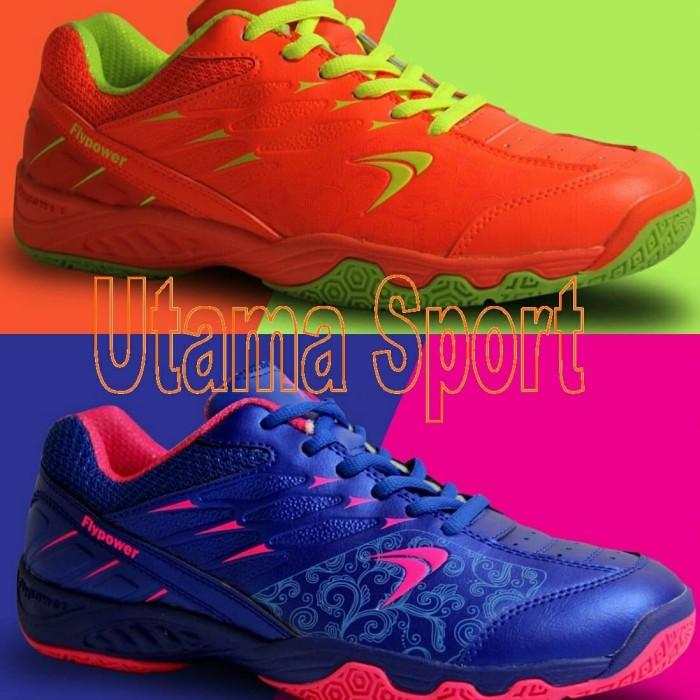 ... harga Sepatu badminton   bulutangkis flypower losari 2   losari2 blue  orange Tokopedia.com 0fcdada48f