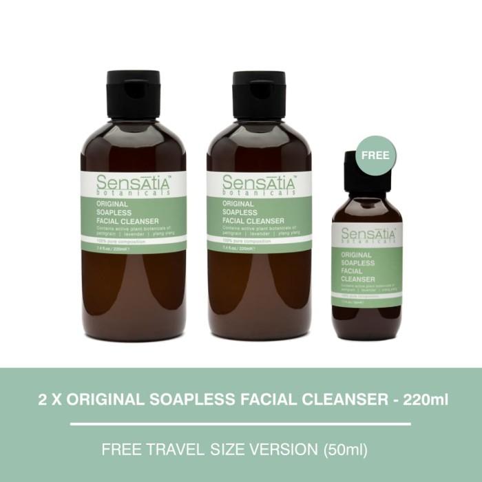 harga Sensatia botanicals original soapless facial cleanser twin pack Tokopedia.com