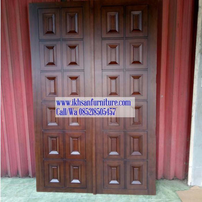 Jual Kusen Pintu Rumah Jati Model 3d Minimalis Modern Terbaru Kab Jepara Ikhsan Furniture Tokopedia