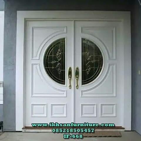 Jual Model Pintu Rumah Mewah Pintu Kupu Tarung Minimalis Modern Kayu Jati Kab Jepara Ikhsan Furniture Tokopedia