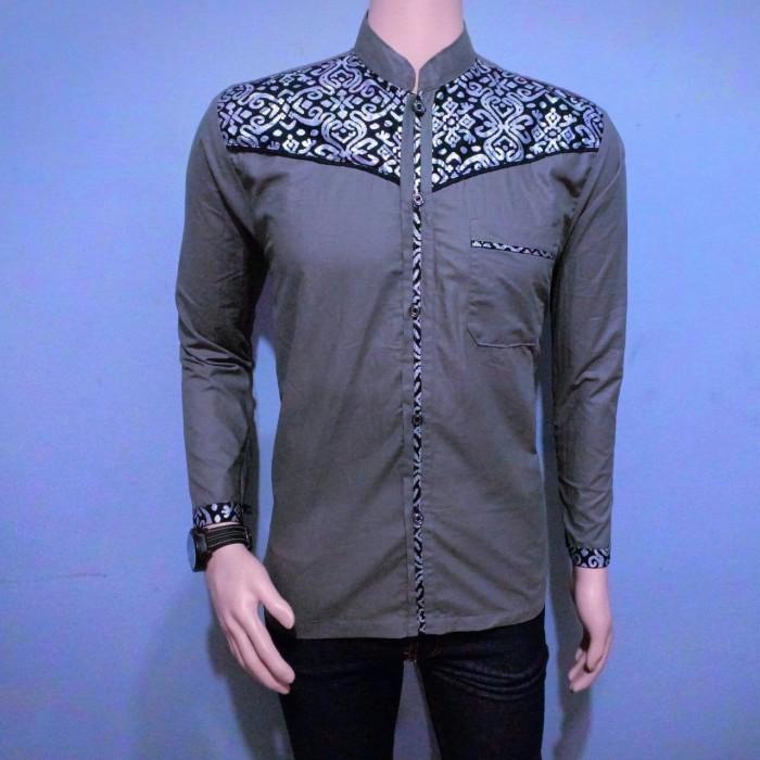 Jual Baju Batik Koko Batik Pria Kombinasi Prada Lengan Panjang Prd004 Kota Pekalongan Kios Abang Tokopedia