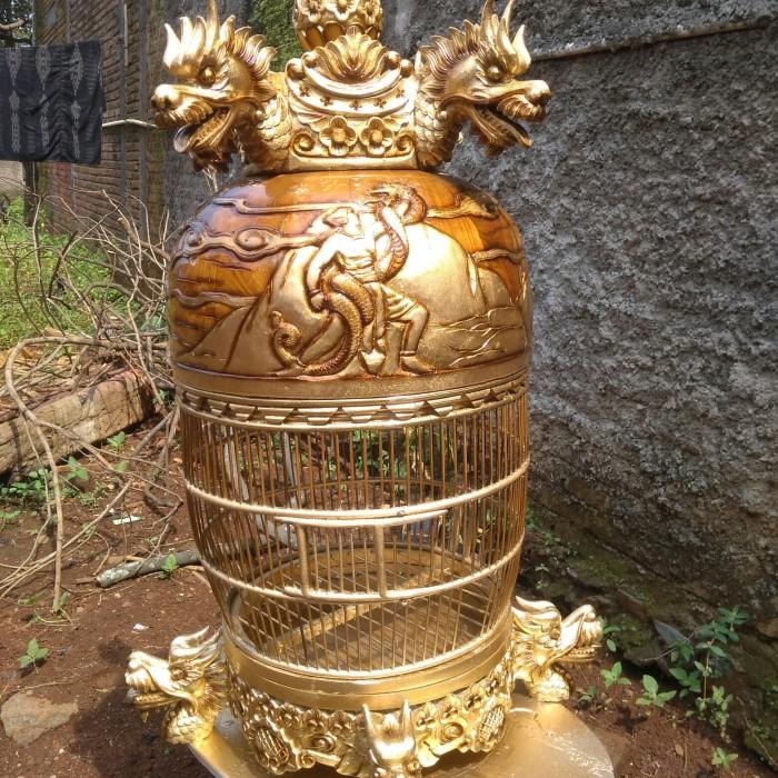 harga Kandang / Sangkar Perkutut istimewa full Kayu Jati Ukir khas Jepara Tokopedia.com