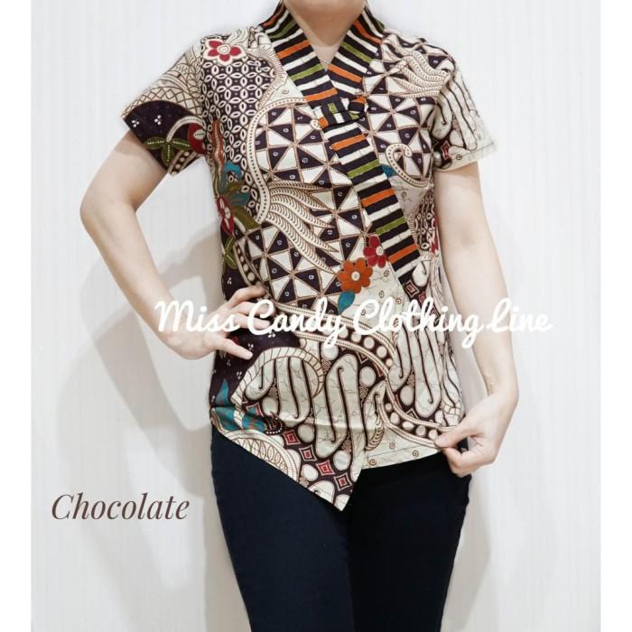 Jual Atasan Batik Wanita Atasan Batik Modern Blouse Batik Model Kimono Jakarta Barat Easily Tokopedia
