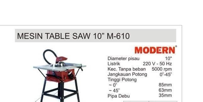 harga Modern mesin potong kayu gergaji kayu table saw 10  m-610 m610 Tokopedia.com